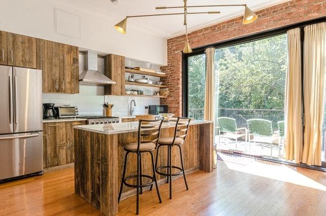 Brown Kitchen Cabinet Renovation